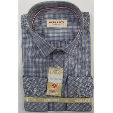 ACELLOTI BLUE-YELLOW STRIPES MEN SHIRT