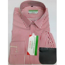 ADORABLE LONDON RED-WHITE STRIPES MEN SHIRT