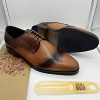 ANAX BEAUTY BROWN LACEUP MEN SHOES