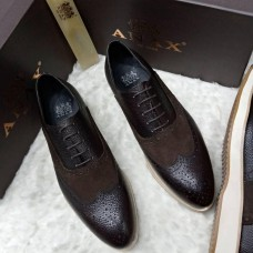 ANAX Brown Stone Touch Men Shoes
