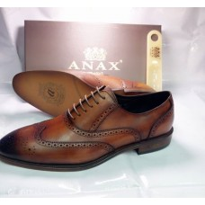 ANAX FANCY BROWN MEN SHOES