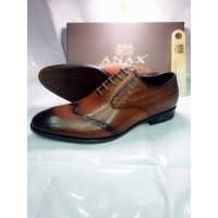 ANAX PURE BROWN CORPORATE LACEUP MEN SHOES