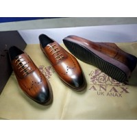 ANAX Stylish Laceup Brown Shoes