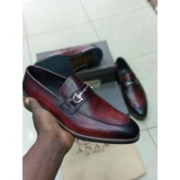 ANAX WINE LACEUP OFFICE SHOES