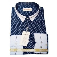 Acelloti Dotted Office Men Shirt