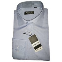 BOSCH Plain Cute Slim Fit Long Sleeve Men Shirt