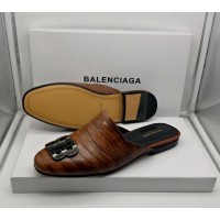 Balenciaga Brown Cute Half Shoes