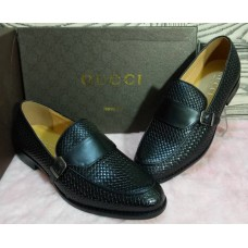 Gucci Black Design with side clip Men's Shoes