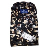 Black Overshadow Royal Floral Vintage Men Shirt