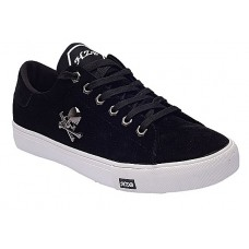 Bone Clip Suede Lace-up Sneakers - Black