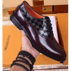 Louis Vuitton Classic Mix Colour Laceup Men Shoes