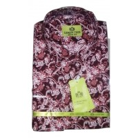 Colour-mix Classical Floral Vintage Men Shirt