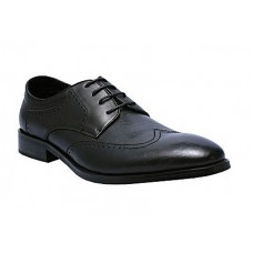 Compact Oxford Black Men Shoes With Lace up