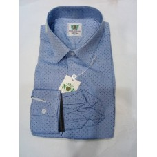 Evis Amani Blue Design Men's Shirt - Slim Fit Shirts
