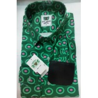 Evis Amani Green With Purple Touch Design Men's Shirt