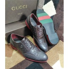 GUCCI CLASSIC DESIGN LACE UP MEN SHOES