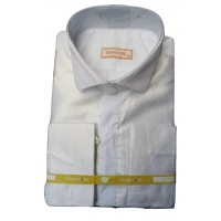Gemstone Honourable White Design Long Sleeve Men Shirt