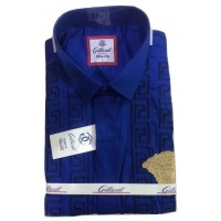 Gillardi Excellency Office Blue Slim Fit Men Shirt