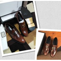 Gucci Corporate Men Shoes -BROWN