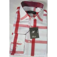 HALO RED AND WHITE PATTERN BEAUTY MEN SHIRT