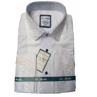 J M Martin Bishop White Design Slim Fit Men Shirt