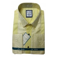 J M Martin Golden Touch Design Slim Fit Men Shirt