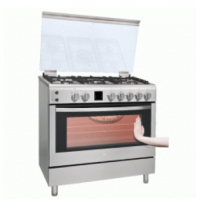 LG 5 GAS BURNER COOKER with OVEN & ROTISSRIE GRILLING | LG STOVE - LGSTOVE98V20S