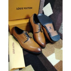 LOUIS VUITTON BROWN BEAUTY STYLICH LACEUP MEN SHOES