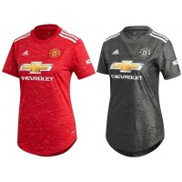 Manchester United Home and Away FEMALE Jersey 2020_21  - COMBO  | BLACK FRIDAY DEAL
