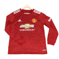 Manchester United Home Male Long Sleeve Jerseys 2020_21