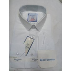 Mario Francesco Plain White - Slim Fit