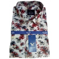 New Man Office Flower Long Sleeve Men Shirt