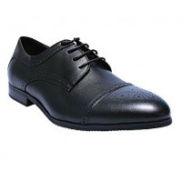 Oxford Brogue Shoe With Lace - Black
