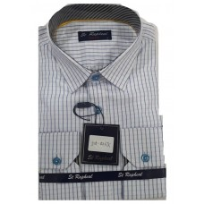 St. Raphael Office white stripes Men Shirt