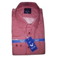 Tiny Red-white Checkers Formal Office Men Shirt