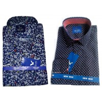 Top-Class 2-in-1 Vintage Style Slim Fit Men Shirt