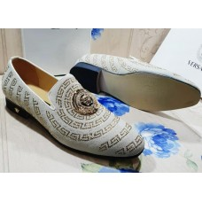 Versace White Gold Beauty Designer Men Shoes